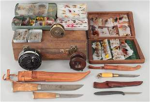 Group of (10) fly fishing items