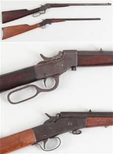 Two single shot falling block rifles