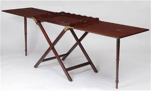 English campaign butlers tray table
