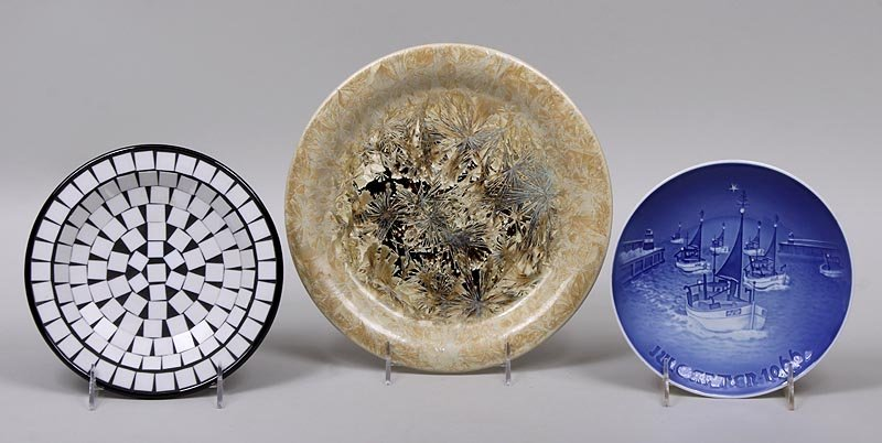 Group of (3) plates