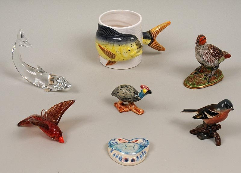 Group of (7) ceramic and glass
