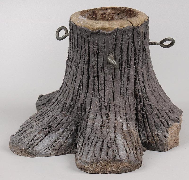 20th century cement tree stand