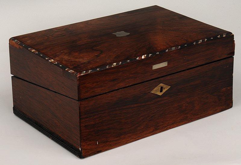 Rosewood Victorian lap desk