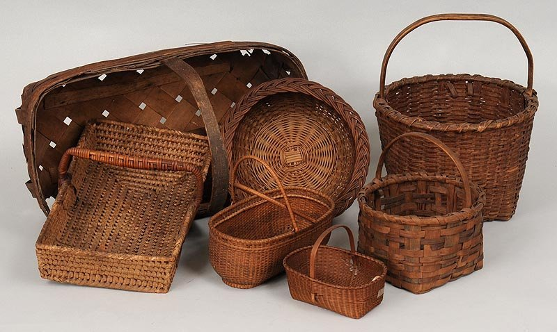 Collection of (7) assorted baskets