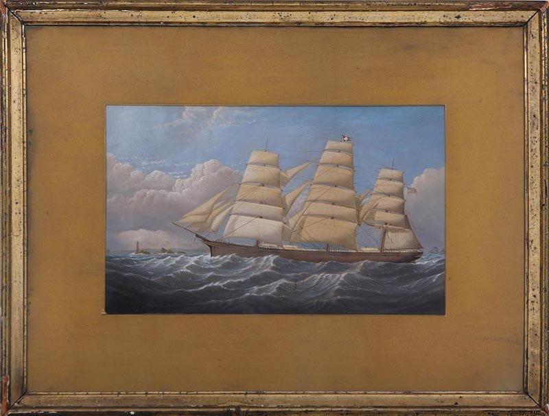 19th century painted print