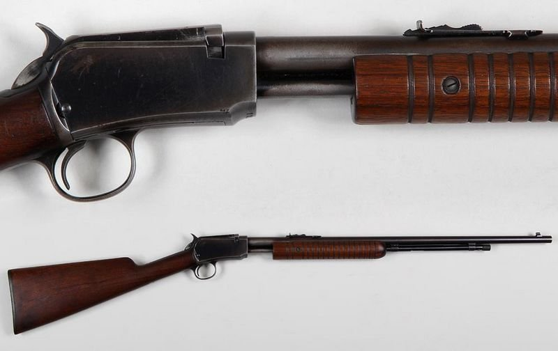 Winchester M62A Pump rifle in 22c.  Round barrel with