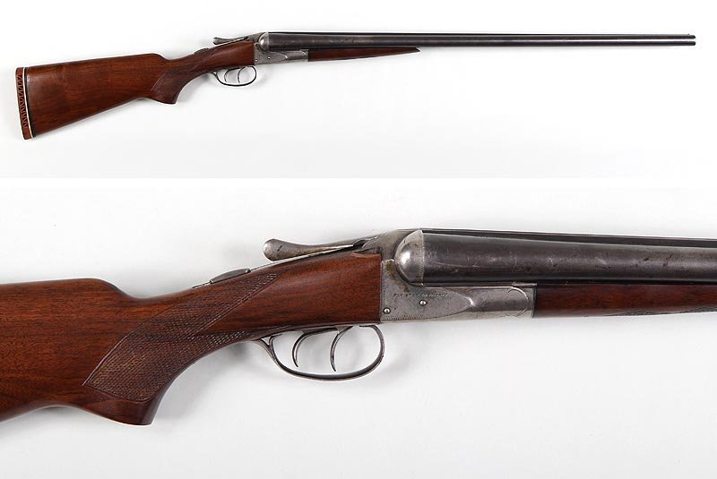 Fox Sterlingworth side by side in 12g., tightly choked