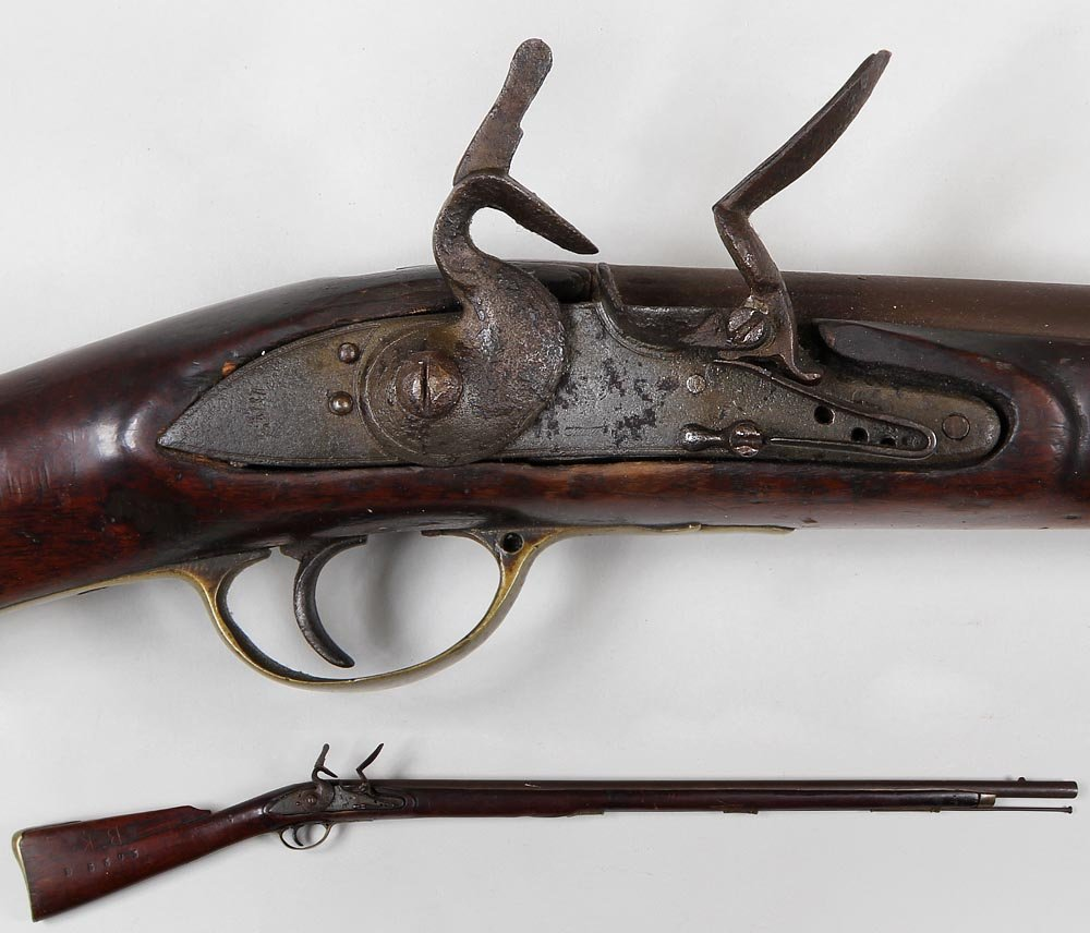 Brown Bess style Flintlock. The barrel 39-3/4'' with
