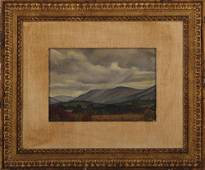 LUIGI LUCIONI (Italian, 1900-1988), mountain landscape,