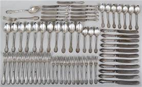 Early 20th century Russian silver flatware set to