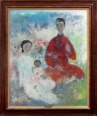 VU CAO DAM (Vietnamese, 1908-2000), ''La Famille'', oil