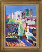SERGE MENDJISKY (French, b. 1929), cityscape, oil on