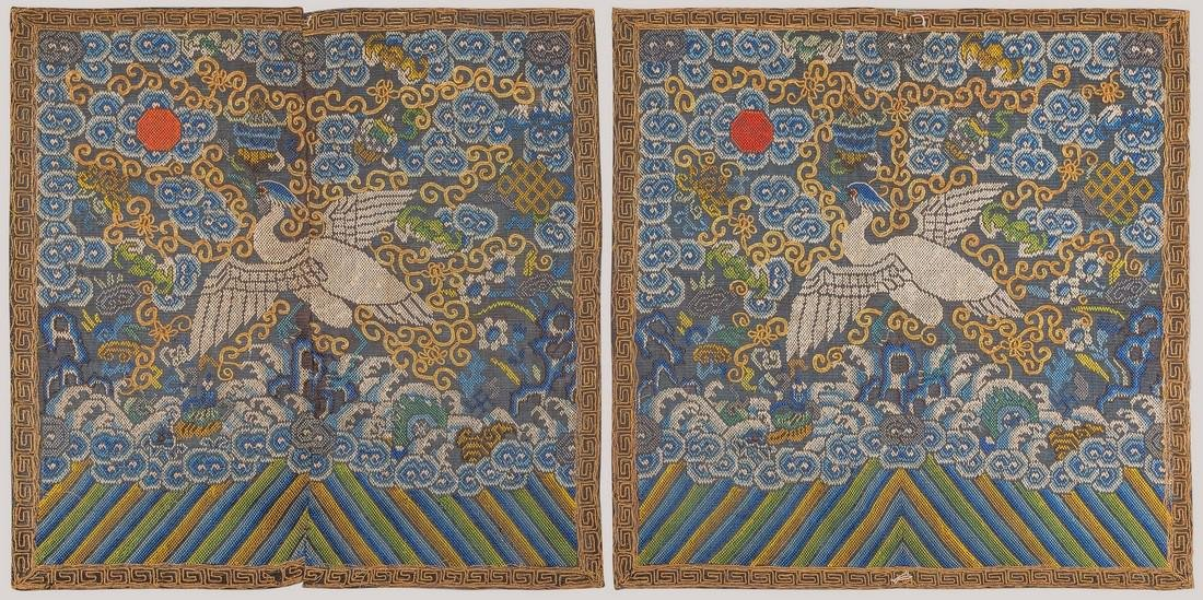 A Civil First Rank Badges with Crane Insignia, China,
