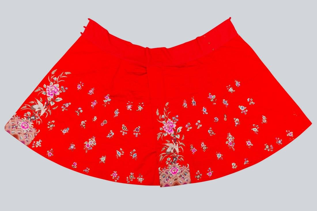 An Embroidered Skirt, China.