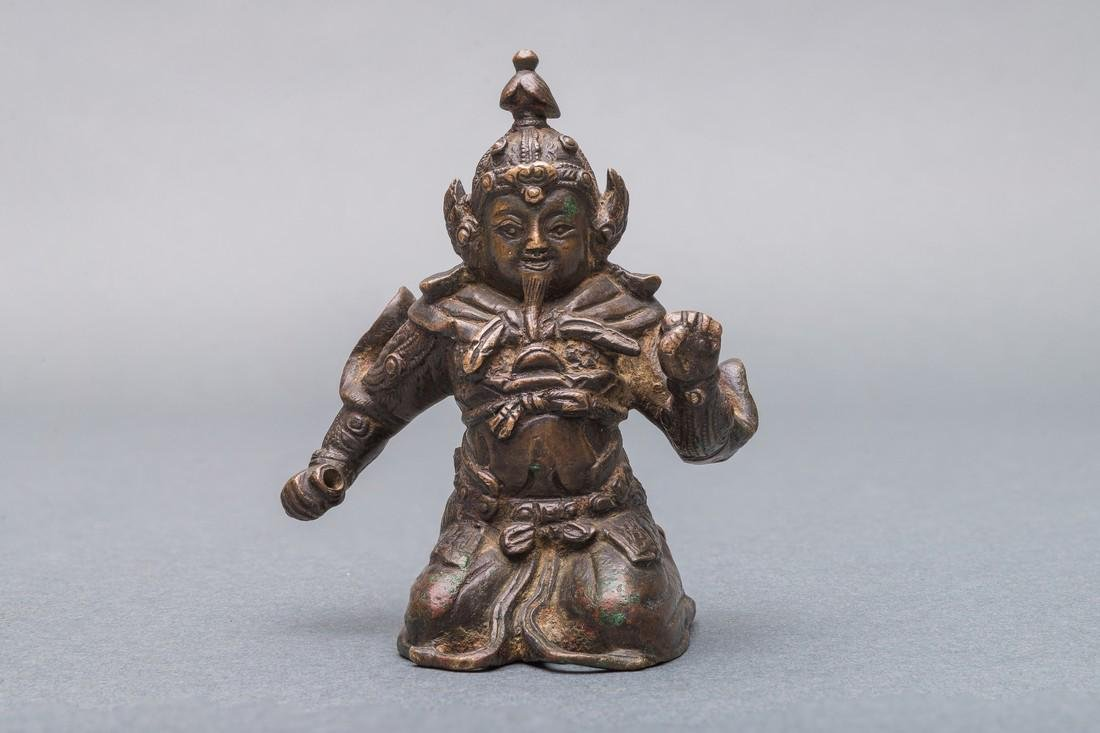A Patinated Bronze Figure of Warrior, China, Ming - 2