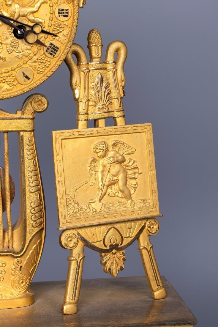 A Figurative Gilt Bronze Mantel Clock by Vishnevsky - 6
