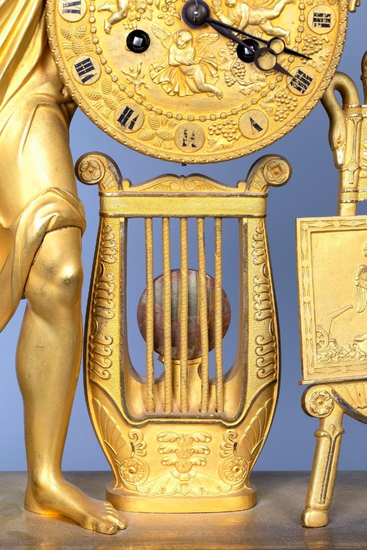 A Figurative Gilt Bronze Mantel Clock by Vishnevsky - 7