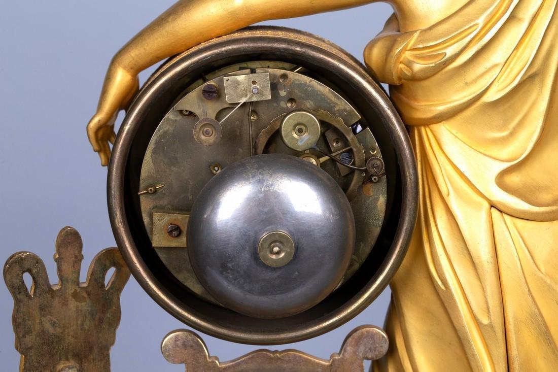 A Figurative Gilt Bronze Mantel Clock by Vishnevsky - 8
