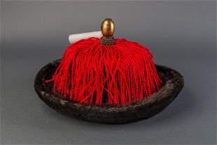 A Winter Hat Belonged to the Manchu aristocrat, Qing