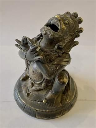 A Gilt Bronze Figure of Vajradaka, Tibet 17 - 18th Cent