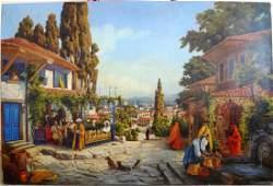 """LOUIS-EMILE PINEL DE GRANDCHAMP """"View of Istanbul"""""""