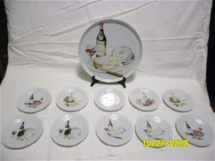Philippe Deshoulieres Serving Platter and Plates