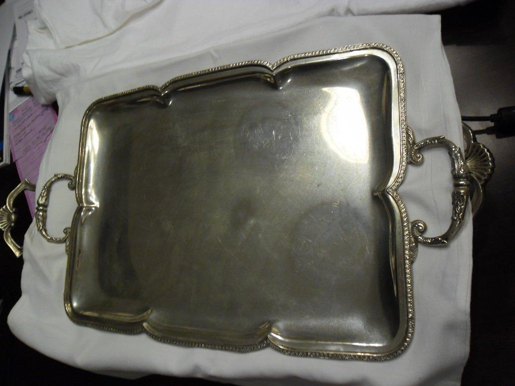 Greek Silver Serving Tray