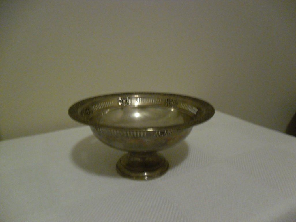 Greek Sterling Silver Weighted Candy Dish
