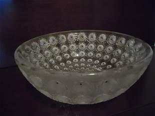 """Lalique """"NEMOURS"""" Bowl"""