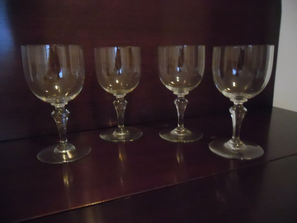 """Baccarat Crystal """"NORMANDIE"""" Water Goblets (4)"""