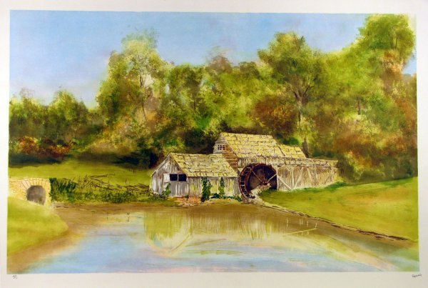5011: Fioravanti Barn Landscape Signed & Numbered Huge