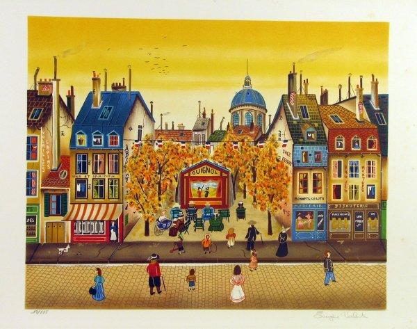 5018: Eugene Valentin (Delacroix Style) Pencil Signed &