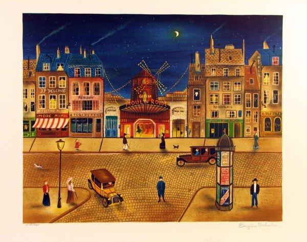 5020: Eugene Valentin (Delacroix Style) Pencil Signed &