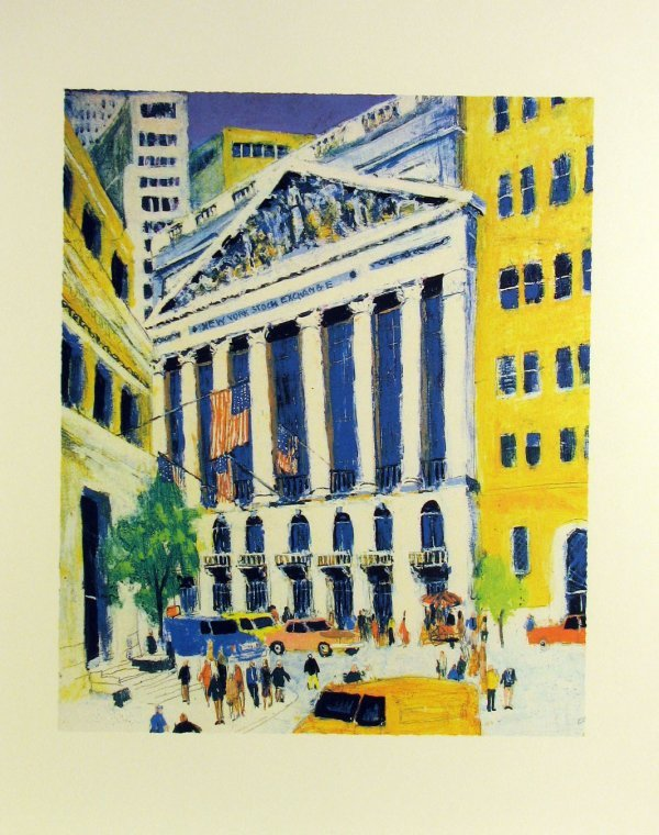 5023: New York Stock Exchange Serigraph