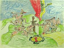5099 Roberto Matta Lithograph Pencil Signed  Numbered