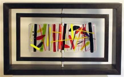 5181: Ana Maria Nava Art Glass Kinetic Sculpture One of