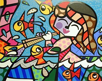 5524: Romero Britto Serigraph Pencil Signed & Numbered