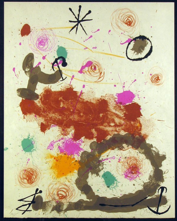 5674: Joan Miro Lithograph Signed & Numbered
