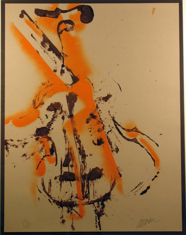 5819: Arman Violins Lithograph Pencil Signed & Numbered