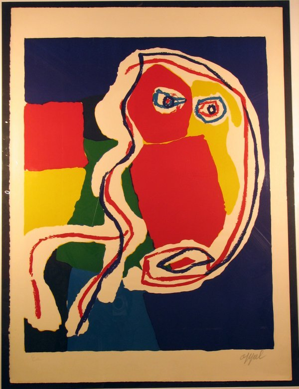 7007: Karel Appel Lithograph Pencil Signed & Numbered