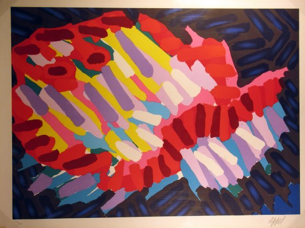 7008: Karel Appel Lithograph Pencil Signed & Numbered
