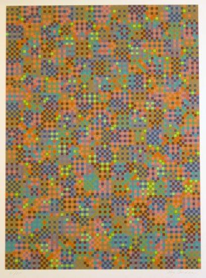 7019: Tony Bechara (Vasarely Style) Pencil Signed & Num