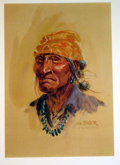 7021: Joe Beeler Navajo Indian Pencil Signed & Numbered
