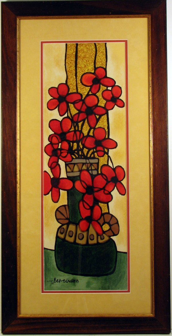 7022: Avi Ben Simhon Serigraph Pencil Signed & Numbered