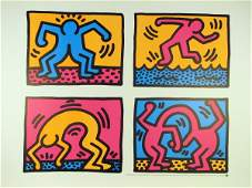 7124 Keith Haring Pop Shop II Lithographic Poster Huge