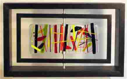 7212: Ana Maria Nava Art Glass Kinetic Sculpture One of