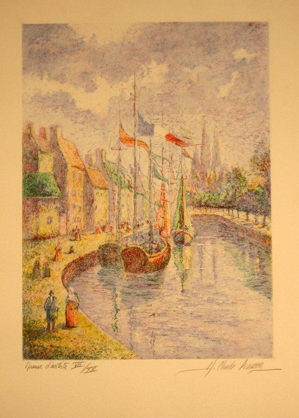 7245: H. Claude Pissarro Pencil Signed & Numbered