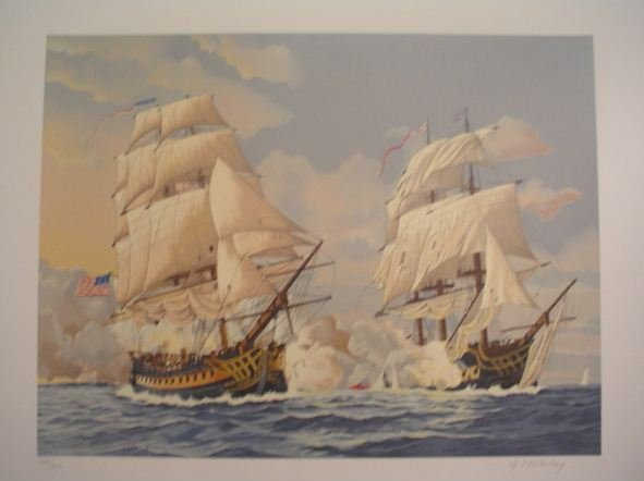 3312: A. D'estrehuy Marine Scene Signed & Numbered