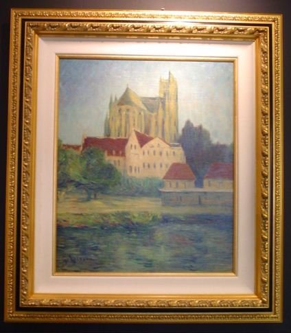 3437: Gustave Loiseau Painting Oil on Canvas dated 1900