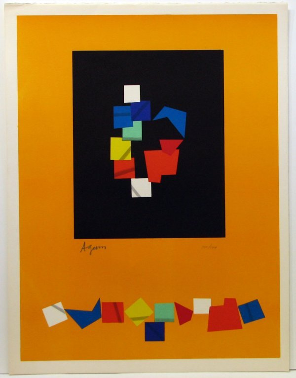 104: Agam Lithograph Pencil Signed & Numbered